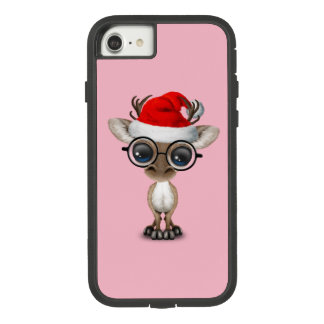 Nerdy Baby Reindeer Wearing a Santa Hat Case-Mate Tough Extreme iPhone 8/7 Case