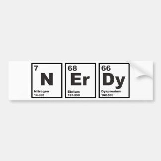 Nerdy Elements Bumper Sticker
