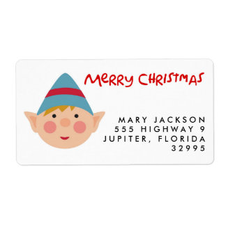 Nerdy Elf Christmas Holiday Address Labels