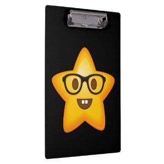 Nerdy Emoji Star Clipboard