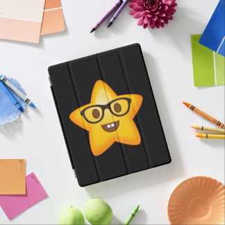 Nerdy Emoji Star iPad Cover
