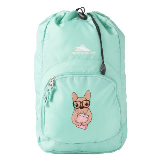 Nerdy French Bulldog Backpack