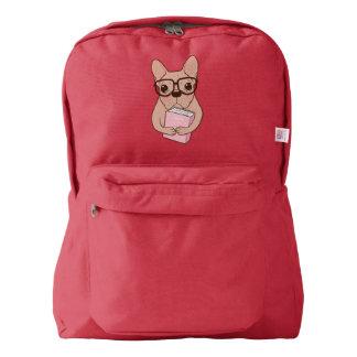 Nerdy French Bulldog Backpack