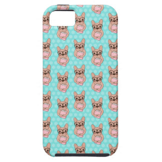 Nerdy French Bulldog iPhone 5 Covers