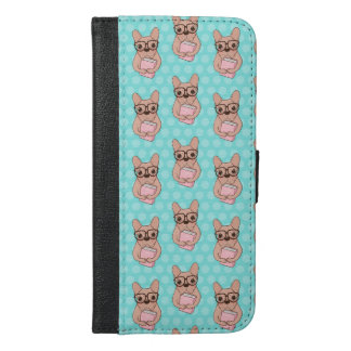 Nerdy French Bulldog iPhone 6/6s Plus Wallet Case
