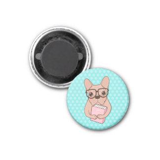 Nerdy French Bulldog Magnet