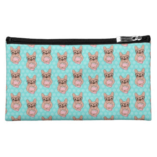 Nerdy French Bulldog Makeup Bag