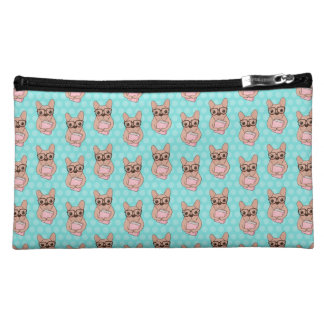 Nerdy French Bulldog Makeup Bags