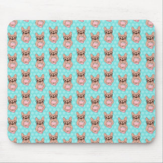 Nerdy French Bulldog Mouse Pad