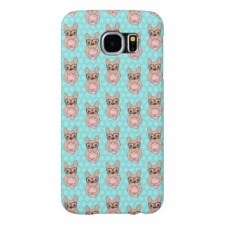 Nerdy French Bulldog Samsung Galaxy S6 Cases