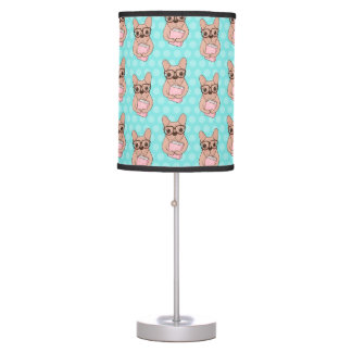 Nerdy French Bulldog Table Lamp