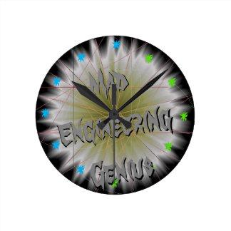 Nerdy Geeky Gift Mad Engineering STEM Science Geek Round Clock