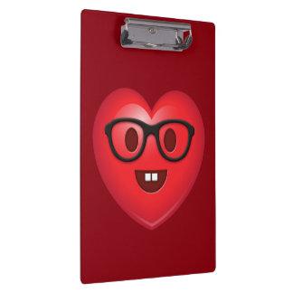 Nerdy Heart Emoji Clipboard