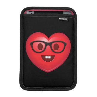 Nerdy Heart Emoji iPad Mini Sleeve