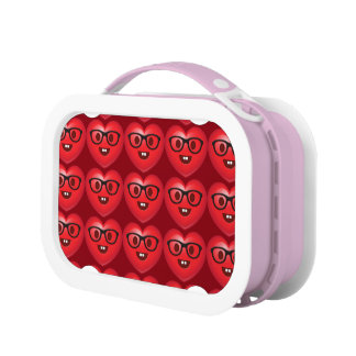 Nerdy Heart Emoji Lunch Box
