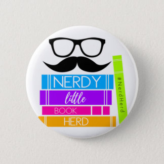 Nerdy Little Book Herd 2 Inch Round Button