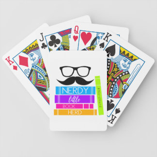 Nerdy Little Book Herd Bicycle Playing Cards