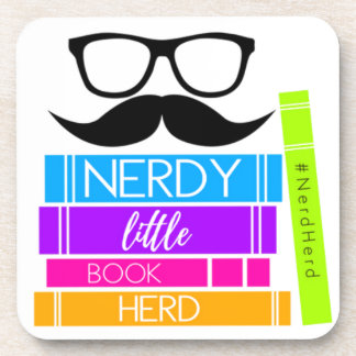 Nerdy Little Book Herd Coaster