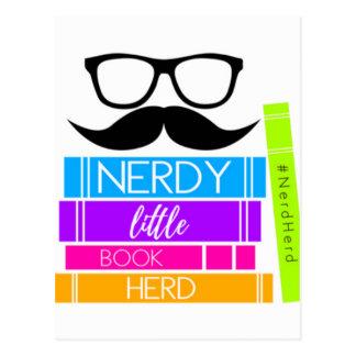 Nerdy Little Book Herd Postcard