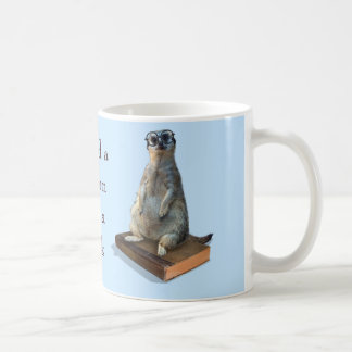 Nerdy Meerkat, hipster, goofy, librarian, funny Coffee Mug