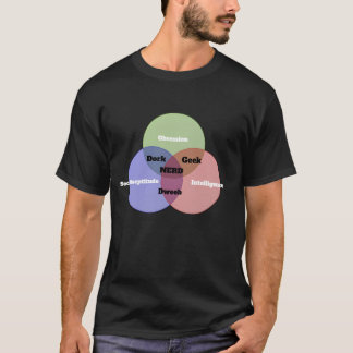 Nerdy Nerd Venn Diagram T-shirt in black