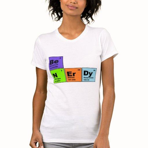 Nerdy periodic table t shirt zazzle for Custom periodic table t shirts