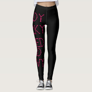 nerdy quirky inked and curvy gym leggings