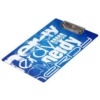 Nerdy; Royal Blue Stripes Clipboards