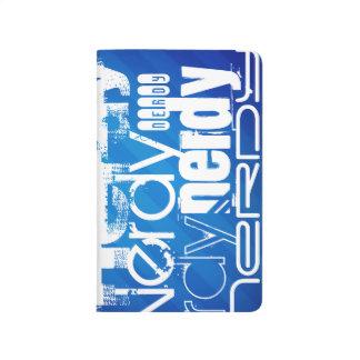 Nerdy; Royal Blue Stripes Journals