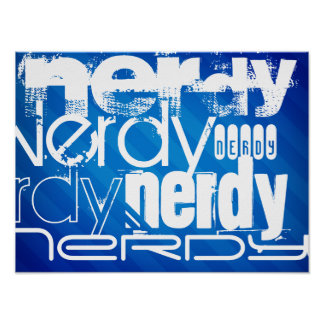 Nerdy; Royal Blue Stripes Posters