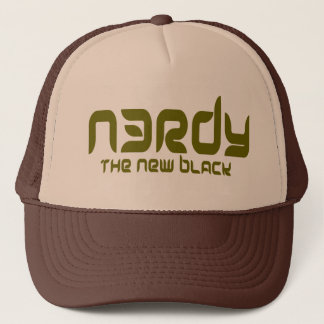 NERDY - THE NEW BLACK TRUCKER HAT
