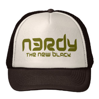 NERDY - THE NEW BLACK TRUCKER HAT