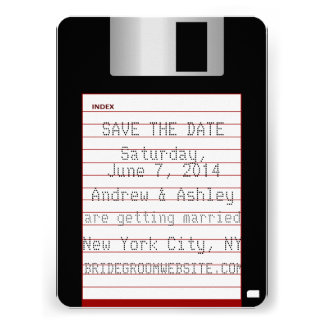 Nerdy Wedding Save The Date Floppy Disk Custom Announcement