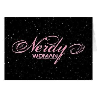Nerdy Woman FOS Card