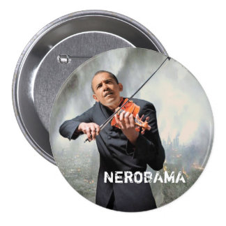 NEROBAMA 3 INCH ROUND BUTTON