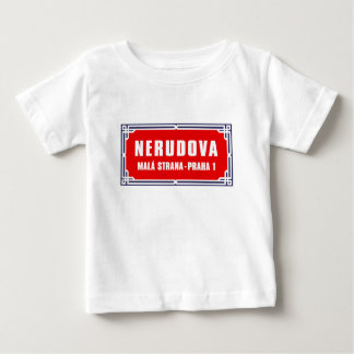 Nerudova, Prague, Czech Street Sign Baby T-Shirt