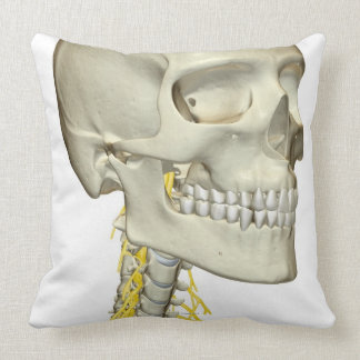 Nerves of the Neck Throw Pillow