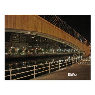 Nervión river at Bilbao Postcard