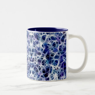 """Nervous"" Blue Neural Pathways/Nerves Coffee Mug"