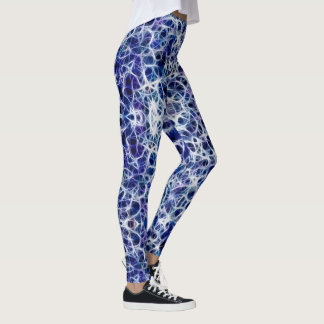 """Nervous"" Blue Neural Pathways/Nerves Leggings"