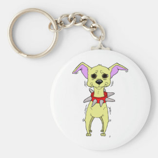 Nervous Chihuahua Cartoon Keychain
