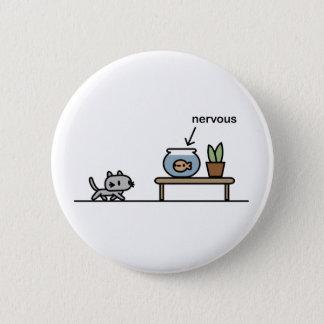 Nervous Fish 2 Inch Round Button