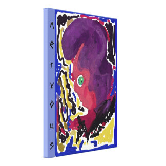 """nervous"" Premium Wrapped Canvas (Gloss) by RaineC"