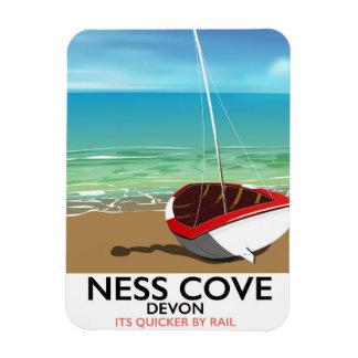 Ness Cover Devon vintage rail travel poster Magnet