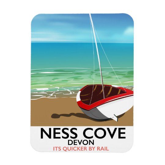 Ness Cover Devon vintage rail travel poster Magnet