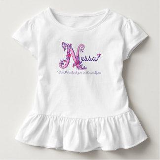 Nessa girls name & meaning N monogram shirt