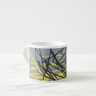 Nest, gray and yellow espresso mug