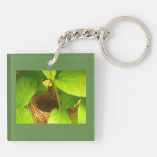 Nest Nestled in Honeysuckles Acrylic Keychain