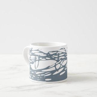 Nest, white and gray espresso mug
