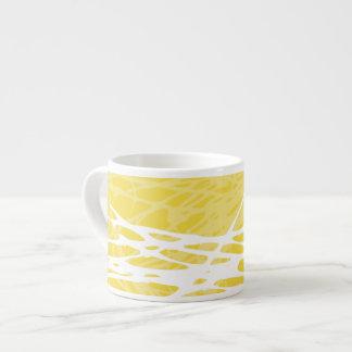 Nest, white and yellow espresso mug